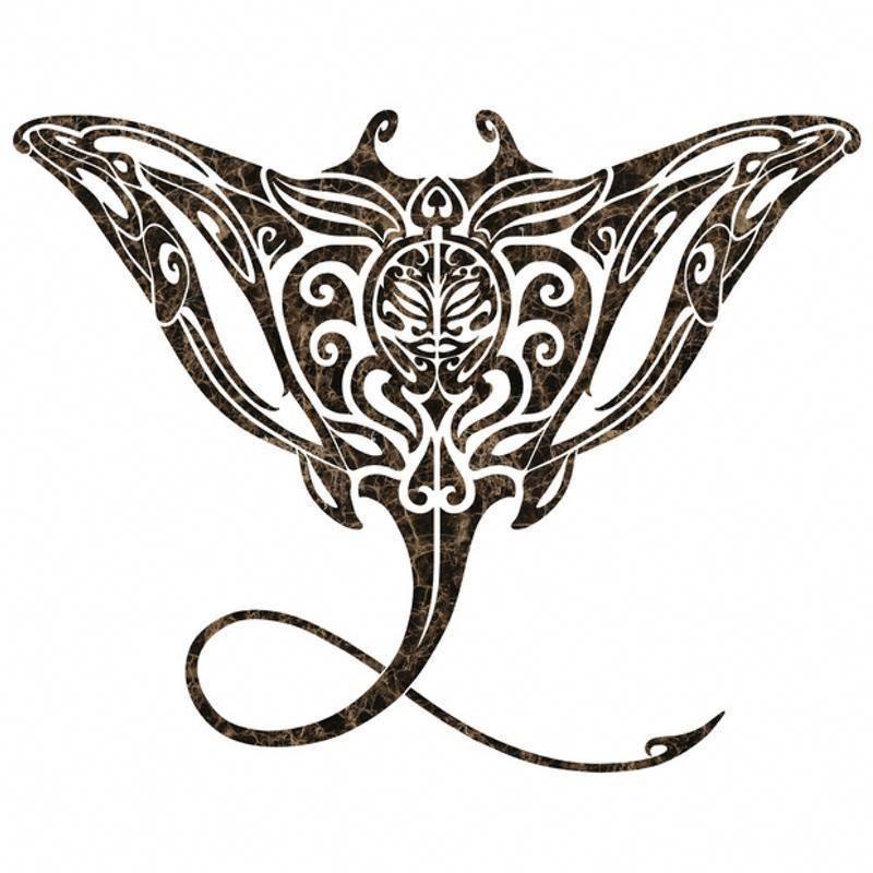 Tribal Manta Ray Mosaic Emperador Pool Mosaic Polynesiantattoos Stingray Tattoo Marquesan Tattoos Polynesian Tattoo