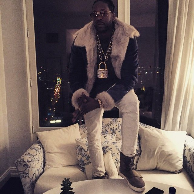 2 Chainz wearing adidas Yeezy 750 Boost |
