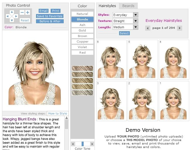 Virtual Hairstyles Hair Imaging Makeover Software Virtual Hair Makeover Virtual Hairstyles Virtual Hair Color