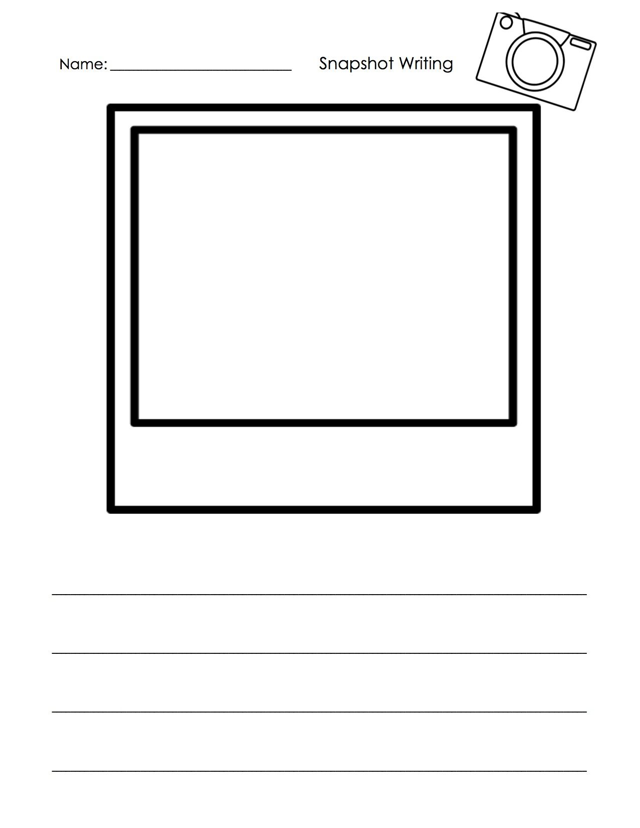 Free Small Moment Writing Template For Writers Workshop I Used