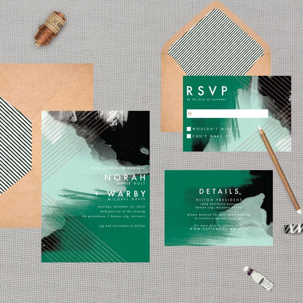 Modern Abstract Geometric Wedding Suite | Pinterest | Geometric ...