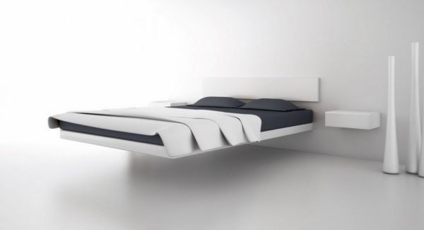 30 Stylish Floating Bed Design Ideas For The Contemporary Home Floating Bed Bed Design Bed Frame Design
