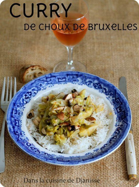 Curry de Choux de Bruxelles & champignons frais de Paris (avec images) | Choux de bruxelles ...