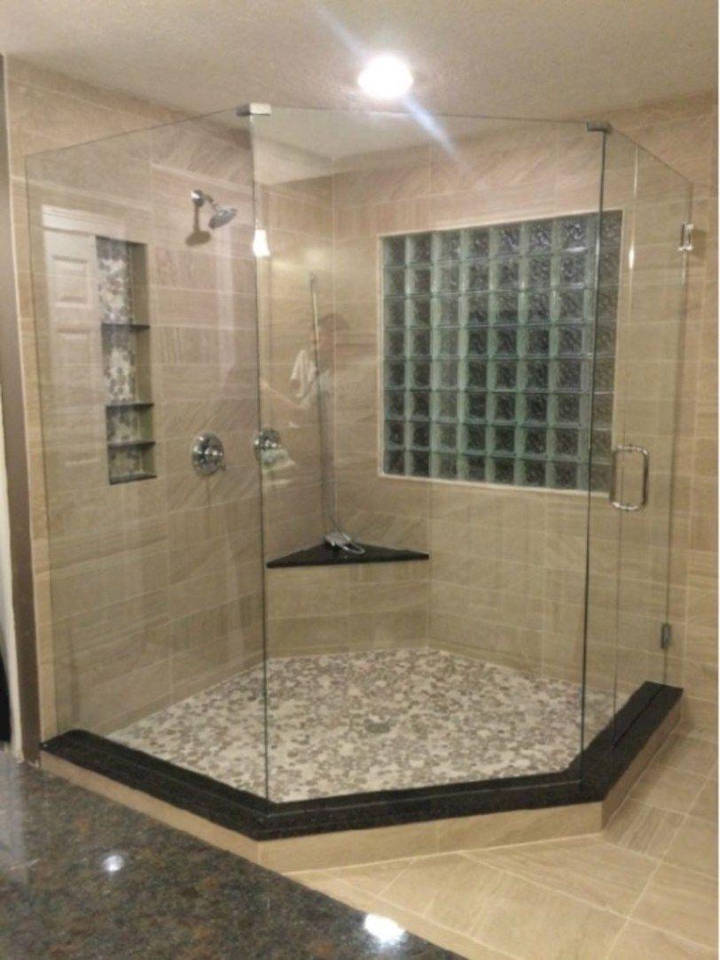 50 Beautiful Bathroom Frameless Shower Glass Enclosure With