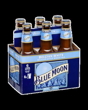 Blue Moon Belgian White Delivered Cold 24 Pack Glass Bottles Blue Moon Blue Moon Beer Blue Moon Belgian White Blue Moon