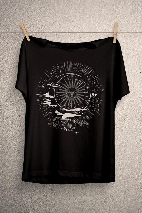 Sun moon phase t-shirt, crystals stars planets #pastelgoth #plussize #kitchenwitch #vintagetshirt #customshirt #giftsforher #forhim #aestheticclothing #norsepagan #sunandmoon #spaceenamelpin #sunnecklace #creepycute  #gothic #gothgirl #gotham #gothgoth #wicca #wiccan #witcher #witch #horror #altar #witchcraft  #naturalwitch #paganwitch #witch #witchstyl#