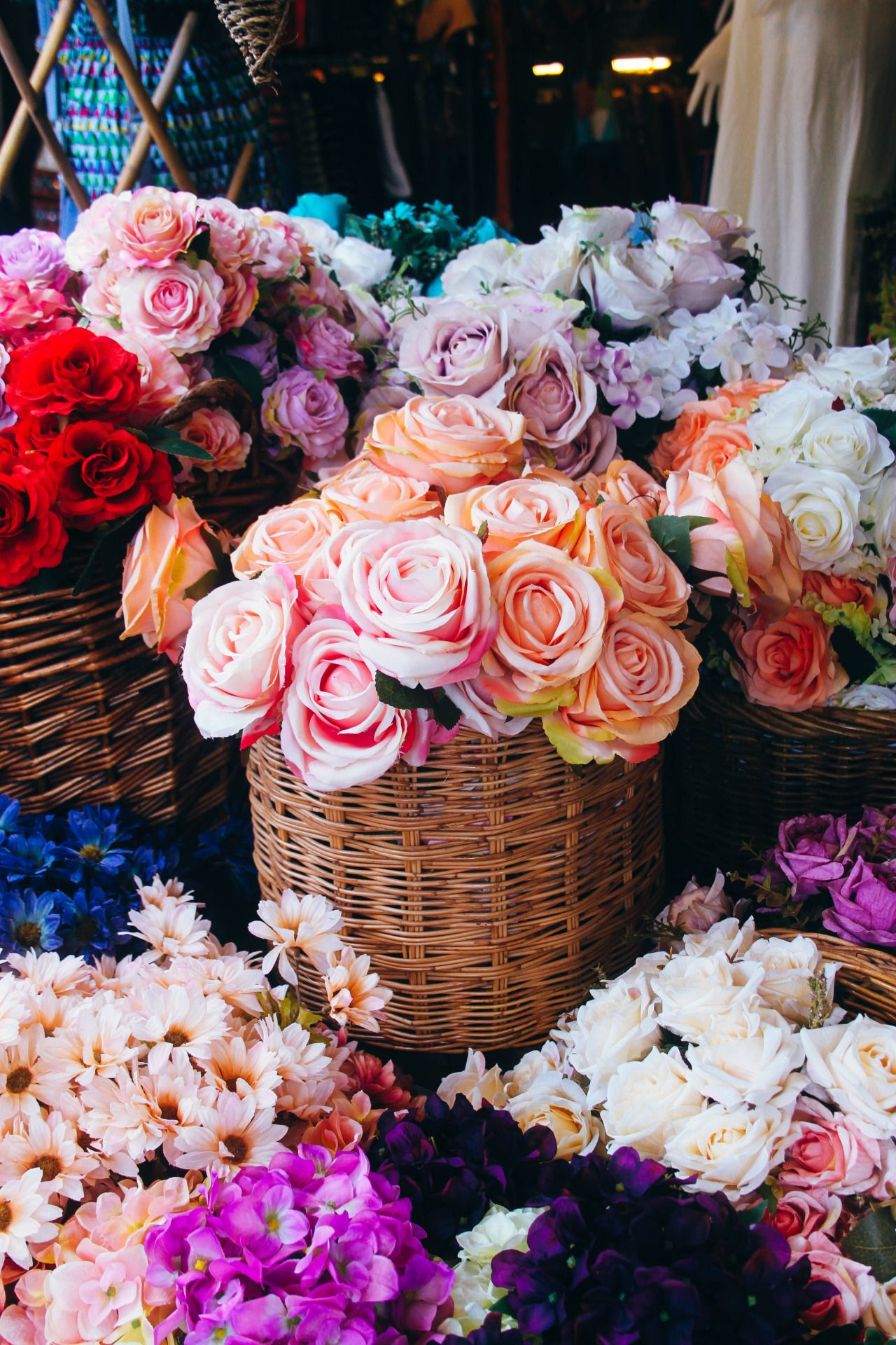 Oh darling floral pinterest ana rosa flowers and flower wicker baskets are a superb way for presenting your beautiful blooms izmirmasajfo