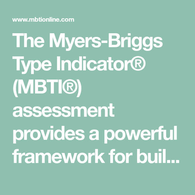 an introduction to the myers briggs type indicator Isabel briggs myers, revised by linda k kirby and katharine d myers help clients integrate type concepts into their lives with this popular guide use this helpful booklet during an introductory feedback session and for further exploration following the session.