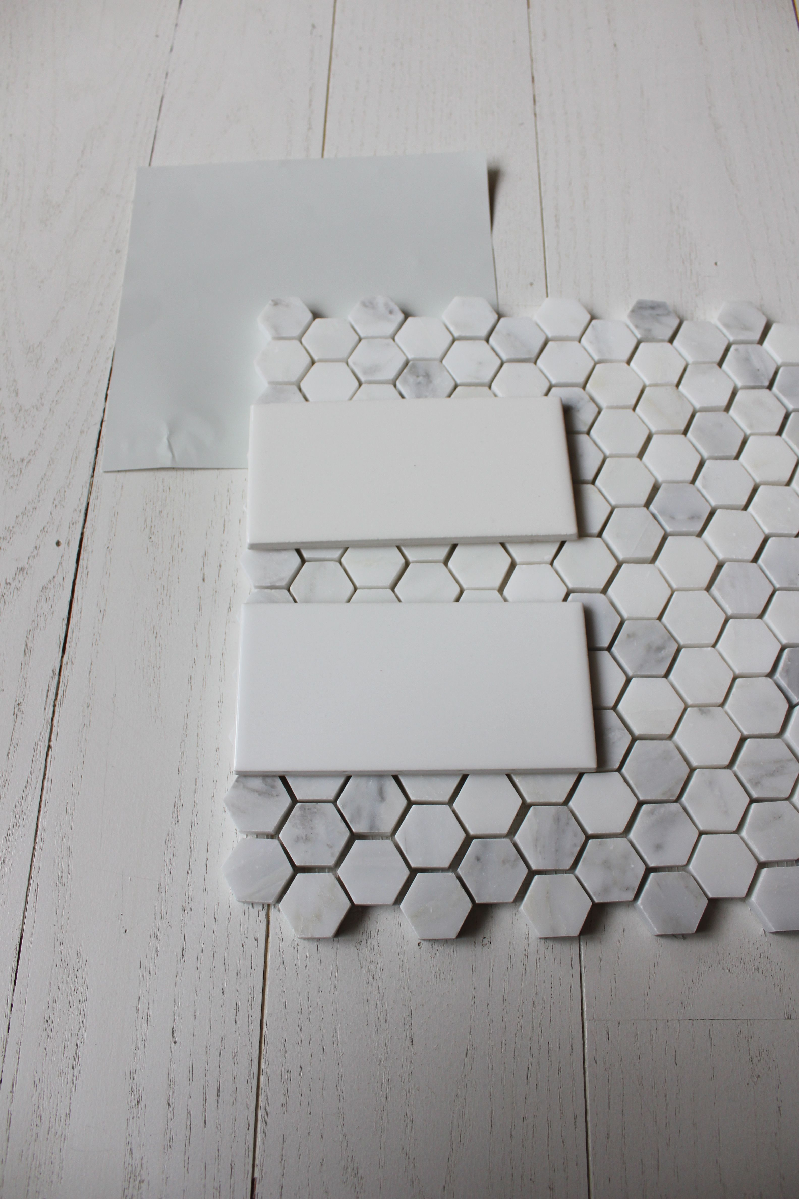 4x6 white subway tile with carrara hex floor tile corner shower 4x6 white subway tile with carrara hex floor tile dailygadgetfo Image collections