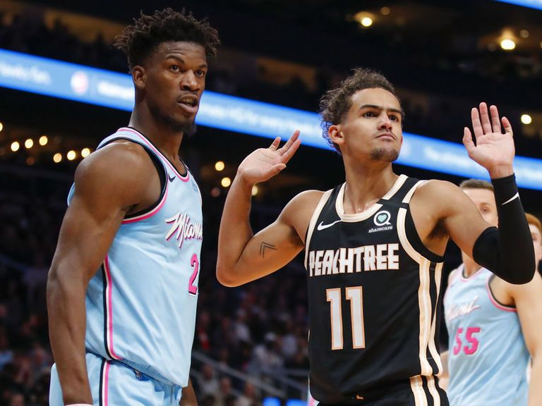 After The Miami Heat Came Back To Defeat The Atlanta Hawks In Their Last Meeting In December Jimmy Butler Trolled Trae Young On S In 2020 Young Role Player Miami Heat