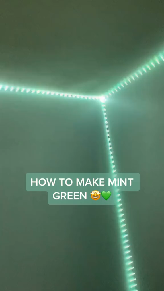 How To Transform Your Room Into Mint Green Color Through Led Light Strips Diy Project Follow This In 2020 Led Lighting Bedroom Led Light Strips Diy Led Lighting Diy