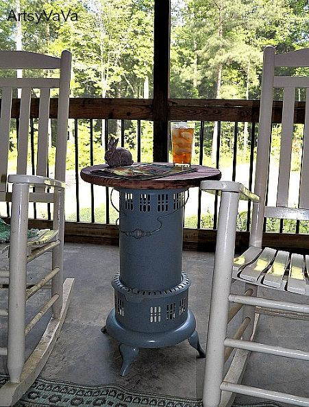 Vintage Kerosene Heater Table Kerosene Heater Porch