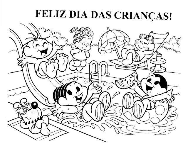 Turma Da Monica Para Colorir Dia Das Criancas Criancas Para