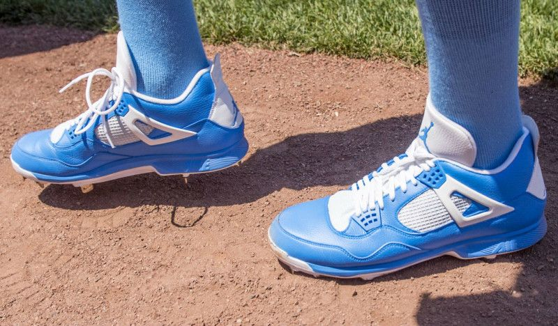 low priced 8ad4c 7cc23 David Price Wears Special Air Jordan 4 Baseball Cleats For Fathers Day