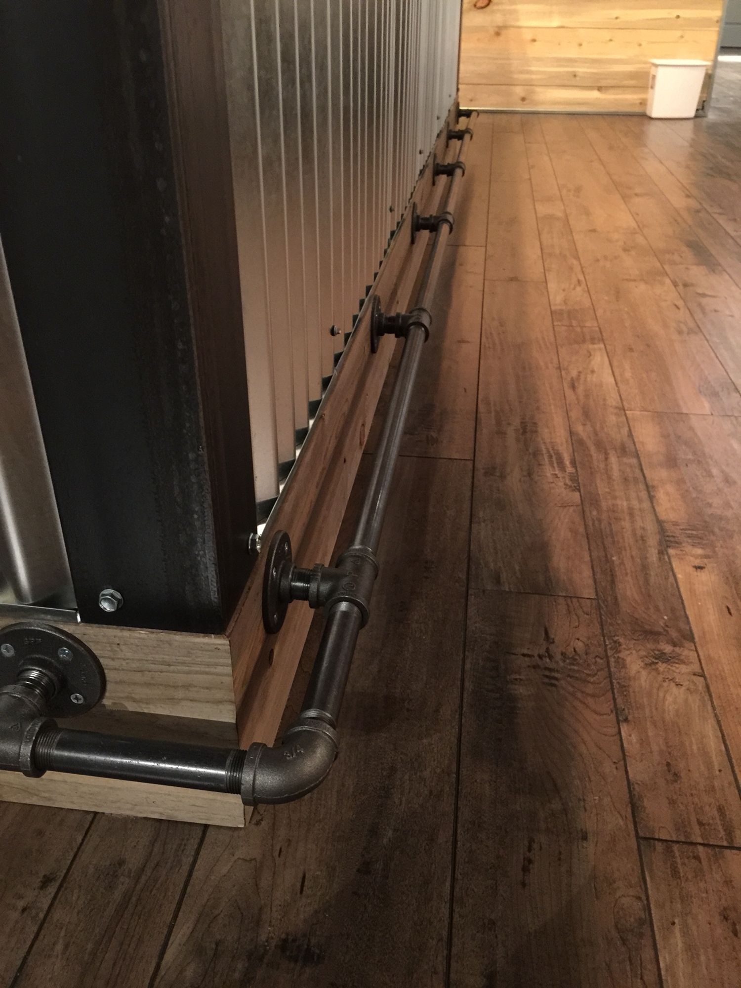 bar foot rail gas pipe foot rest lafayette co things i build 10142