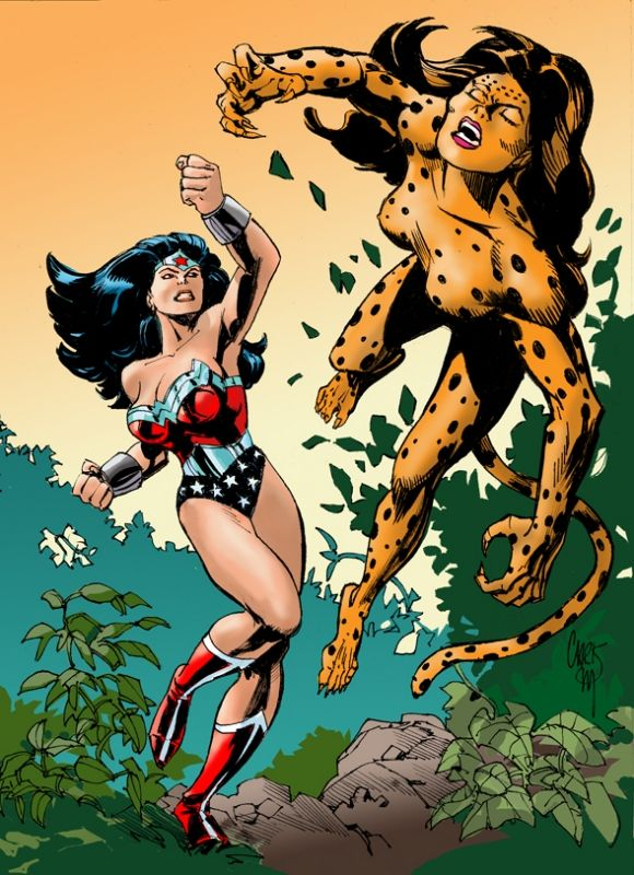 Image result for Wonder Woman vs cheetah