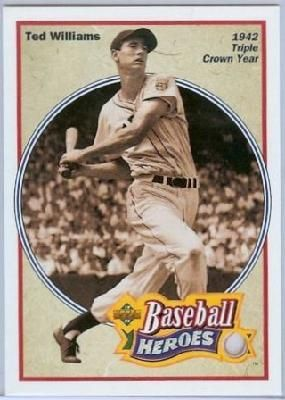 Ted Williams 1992 Upper Deck Baseball Heroes 30 Of 36 Mint