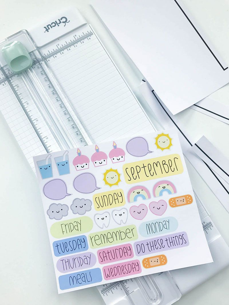 Make Your Own Planner Stickers With Printable Vinyl | The