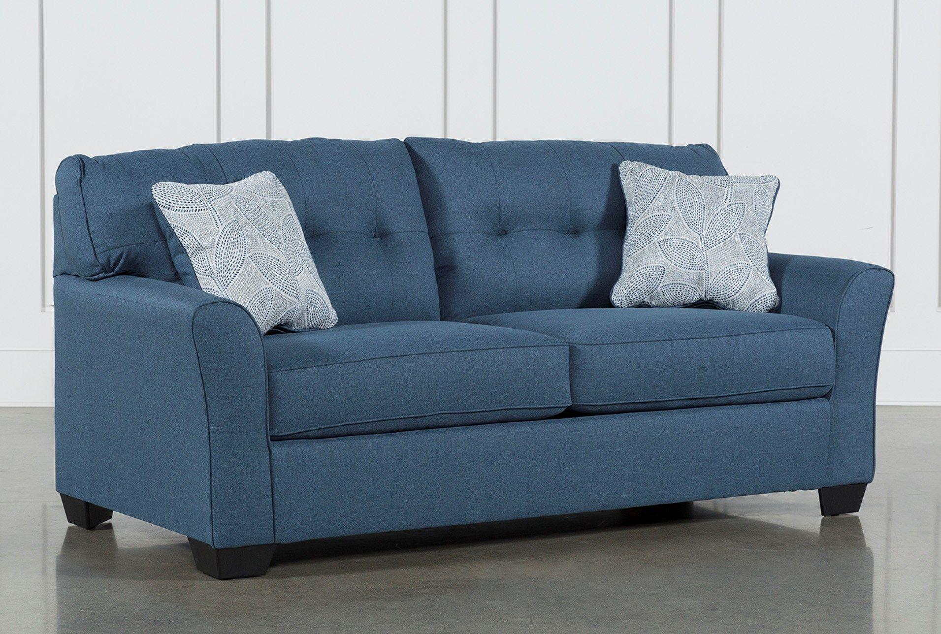 Grande Denim Blue Sleeper Sofa Di 2020 Dengan Gambar