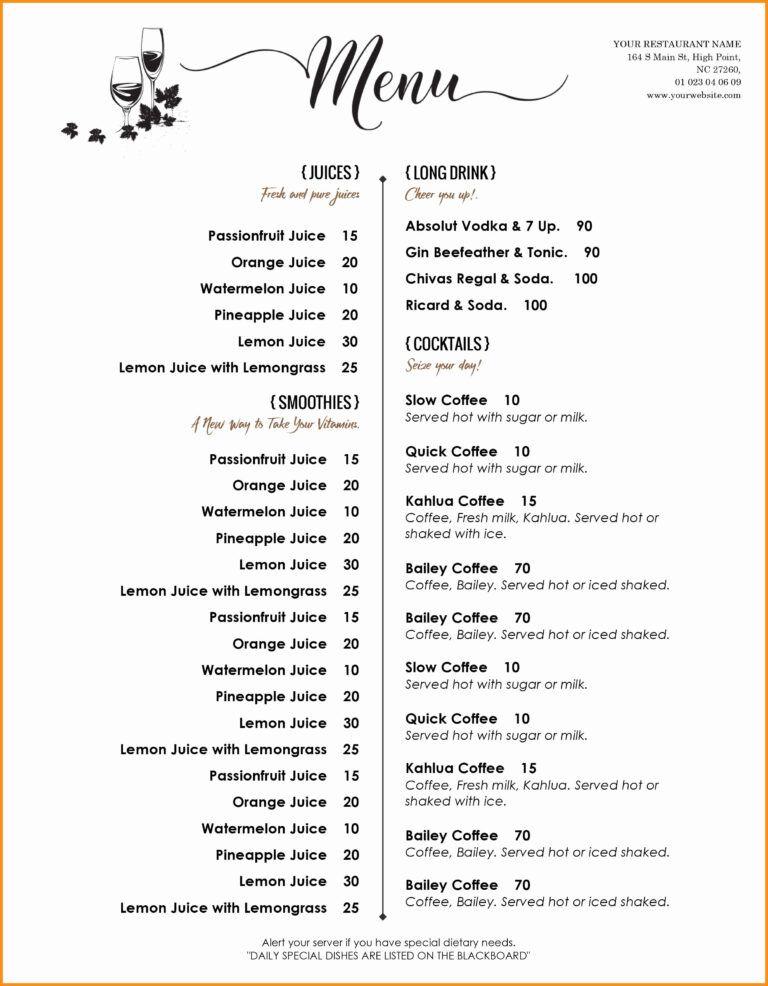 011 Microsoft Word Menu Template Ideas Free Menus Templates In Free Cafe Menu Templates Fo Free Menu Templates Free Printable Menu Free Printable Menu Template