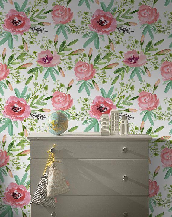 Spring Garden Flowers Removable Wallpaper Peel And Stick Etsy Spring Garden Flowers Spring Garden Flower Mural