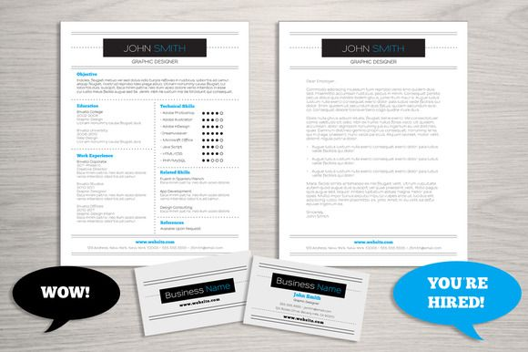 Resume Business Card Bundle by Lucion Creative on Creative Market - resume business cards
