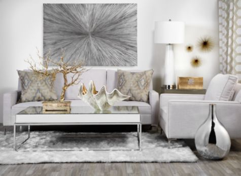 gold and silver living room decor wall z gallerie room colors white taupe mixed 24918