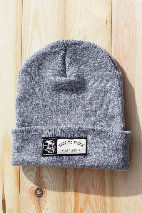 huge selection of c2b22 46c4c Heather Grey Beanie featuring the Fade to Black hem tag. These won t be  restocked. 100% Acrylic Free Buttons with all orders Aprox. (10€   9£ )