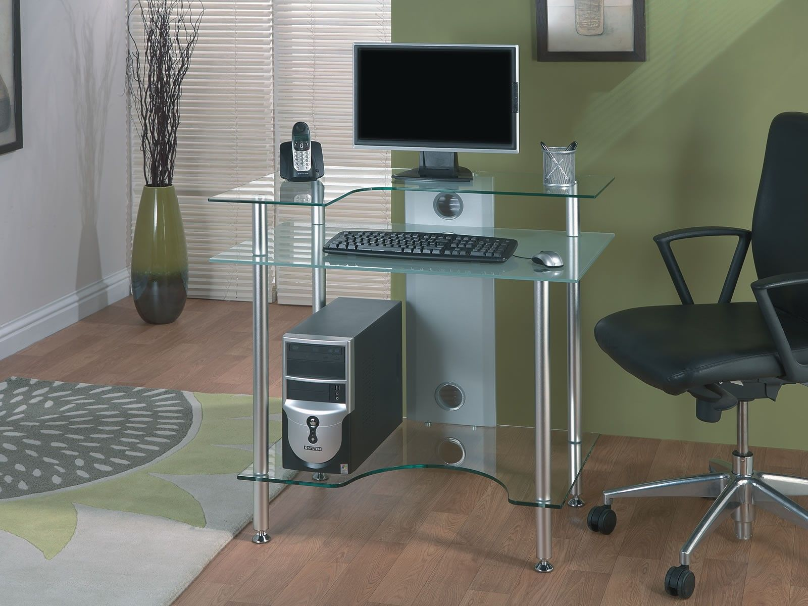jual furnishings pc002 frosted glass desk