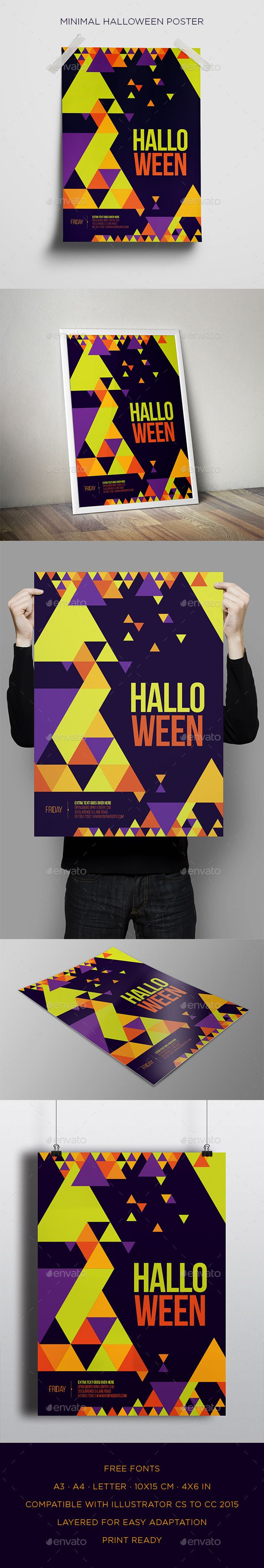 Minimal Halloween Poster  — EPS Template #invitation #professional • Download ➝ https://graphicriver.net/item/minimal-halloween-poster/18047822?ref=pxcr