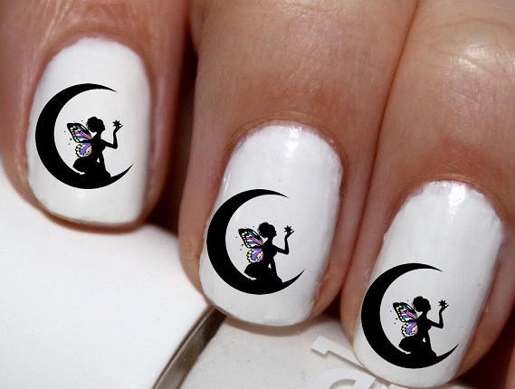 20 pc Fairy Moon Crest Moon Magic Fairy Nail Art Nail Decals Nail Stickers Lowest Price On Etsy #cg3013na