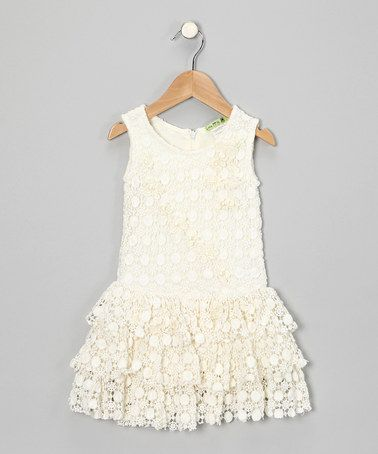 Take a look at this Ivory Summer Vine Dress - Toddler & Girls by Little Mass on #zulily today!