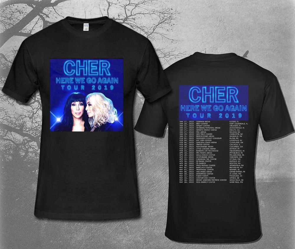 7af3c51f2 New CHER HERE WE GO AGAIN TOUR 2019 BLACK T-SHIRT Size S To 2XL #fashion # clothing #shoes #accessories #womensclothing #tops (ebay link)