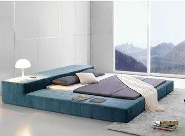opaq contemporary bed frame modern bedroom furniture modern beds denver defysupply - Bed Frames Denver