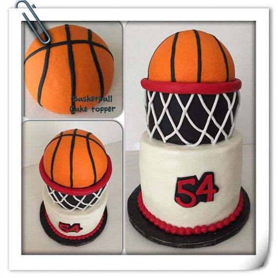 Basketball Cake Topper Basketball Cake Basketball Birthday Cake Cake Toppers