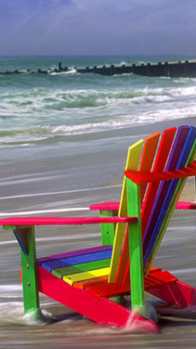 A Very Pretty Rainbow Colored Beach Chair Each Time I See The Colors It Reminds Me Of S Promise He Said Set His Bow In