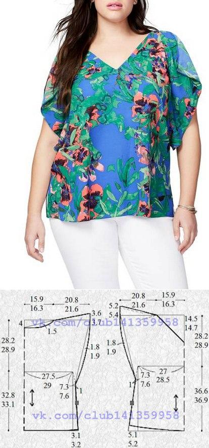 La costura | los patrones simples | las cosas simples. Bluzka con ...