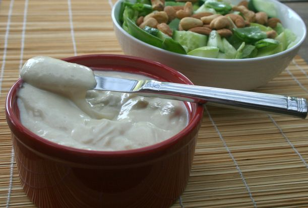 Silken tofu based mayonnaise. DELICIOUS! You will never look back!