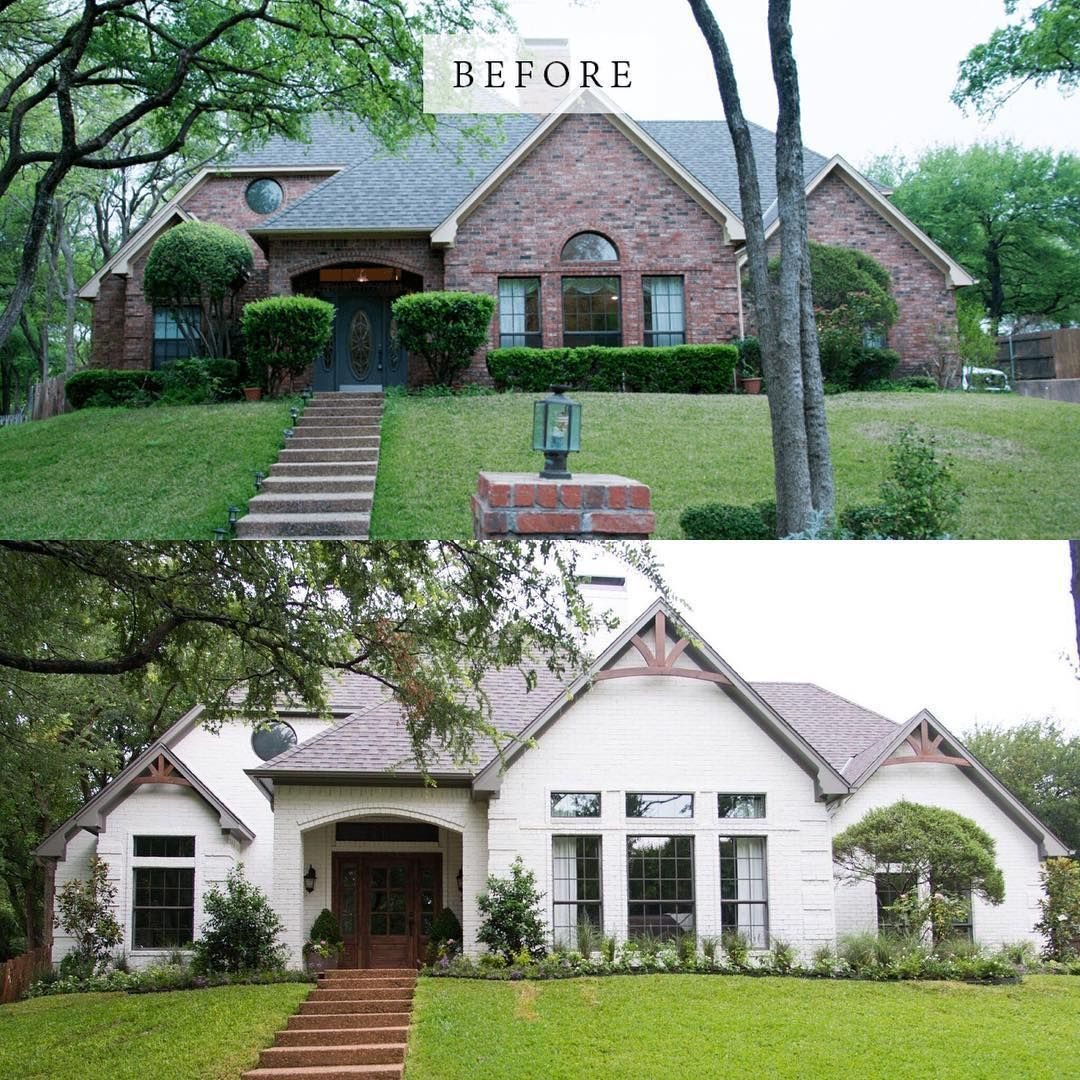 "Home Exterior Makeover: Fixer Upper On Instagram: ""Before And After"