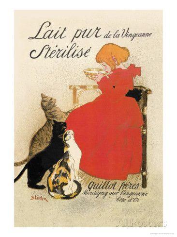 Lait Pur de la Vingeanne Sterilise Láminas por Théophile Alexandre Steinlen en AllPosters.es