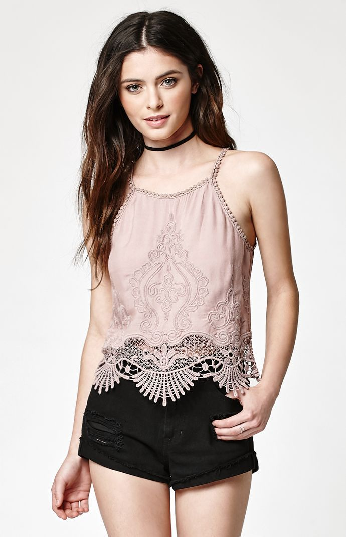 Crochet Embroidered Tank Top