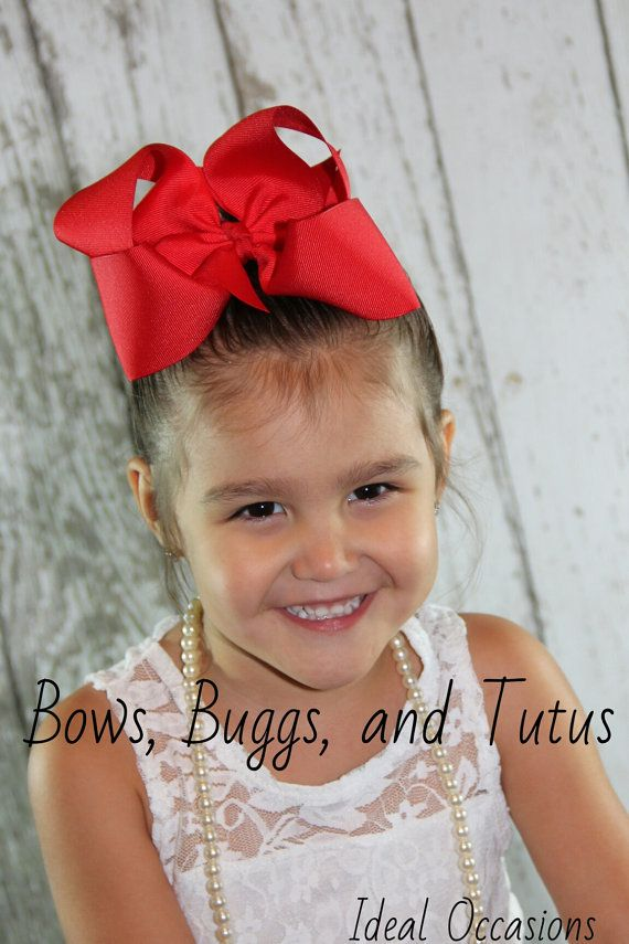 You Pick 10 6 Inch Hair Bows Big Bows Giant By Bowsbuggsandtutus