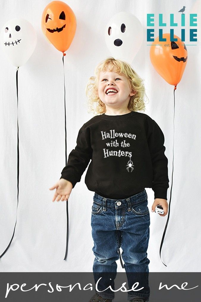 e714d018e2d Boys Personalised Halloween Jumper by Ellie Ellie - Black