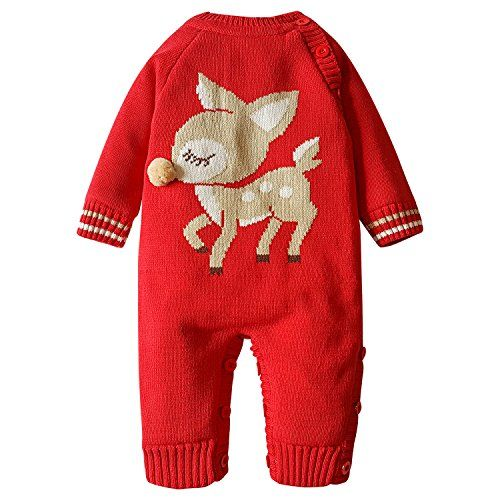 cf4bb54e4 ZOEREA Baby Sweater Adorable Pattern Infant Thick Romper Suit 018 ...