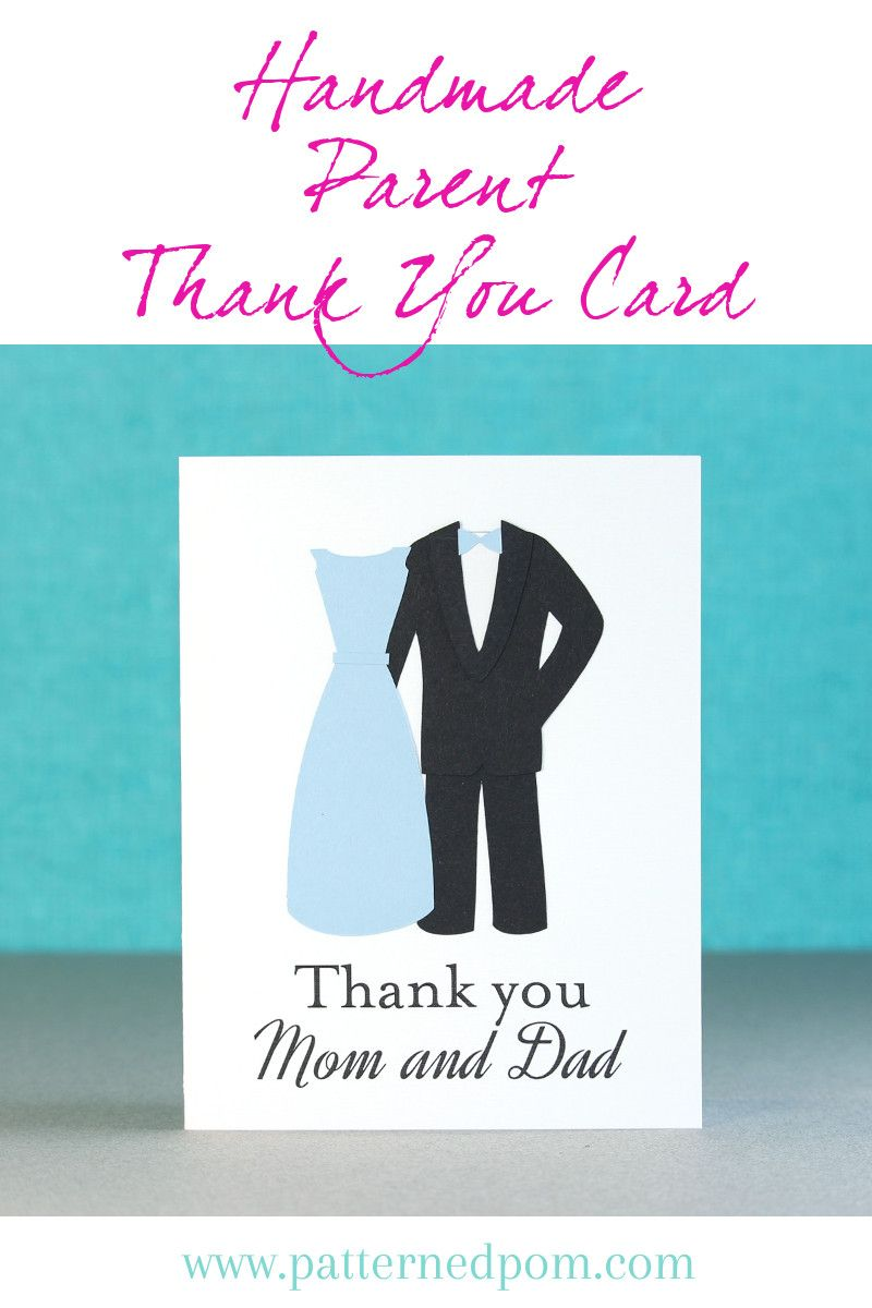 Look at this adorable handmade parent thank you card for weddings ...