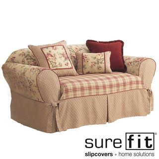 @Overstock.com - Sure Fit Lexington Washable Sofa Slipcover - Breathe new life into any sofa in your home with this high quality Sure Fit sofa slipcover. This slipcover features a floral pattern and two different plaid prints. Ruby red cord detailing also decoratively adorns this 100-percent cotton slipcover.  http://www.overstock.com/Home-Garden/Sure-Fit-Lexington-Washable-Sofa-Slipcover/2278531/product.html?CID=214117 $69.99