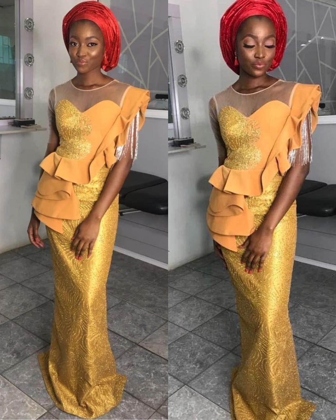 Latest Aso Ebi Styles For Wedding Guest Nigerian Wedding Fashion Wedding Party Outfits African Fashion Dresses