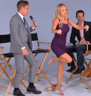 Emily Maynard Teaches Jef Holm How to Do the Running Man (VIDEO)