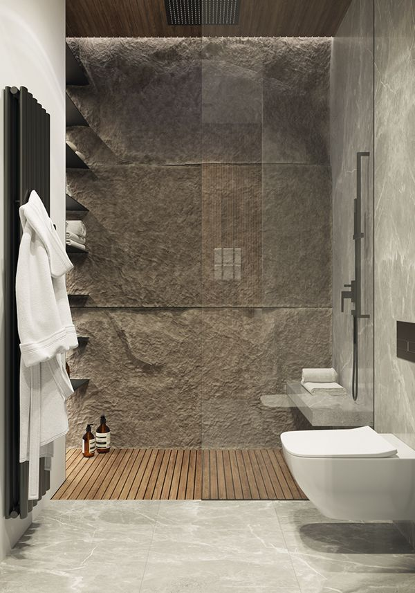 Photo of Family property in Moscow on behalf of #decor #bathroom #design #stone #loft #wc
