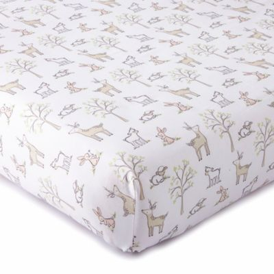 Levtex Baby Skylar Woodland Fitted Crib Sheet In Blush Levtex